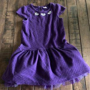 Girls Fun Holiday Party Purple Gymboree Dress